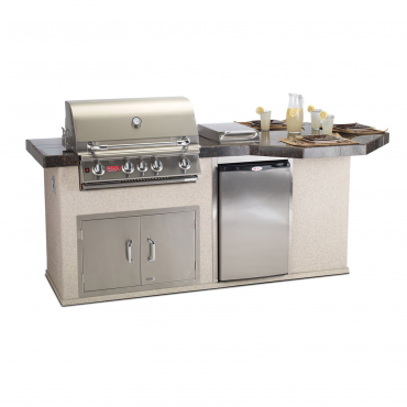 CUCINA DA ESTERNO BULL OCTI-Q OUTDOOR KITCHEN ISLAND IN STUCCO