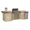 CUCINA DA ESTERNO BULL MEGA-Q OUTDOOR KITCHEN ISLAND IN STUCCO