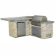 CUCINA DA ESTERNO BULL JUNIOR GOURMET-Q OUTDOOR KITCHEN ISLAND IN STUCCO