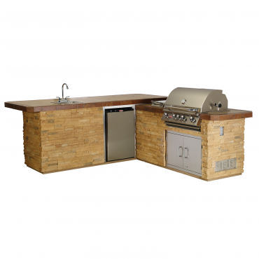 CUCINA DA ESTERNO BULL GOURMET-Q OUTDOOR KITCHEN ISLAND IN STUCCO