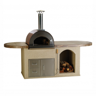 CUCINA DA ESTERNO BULL PIZZA-Q OUTDOOR KITCHEN ISLAND IN STUCCO