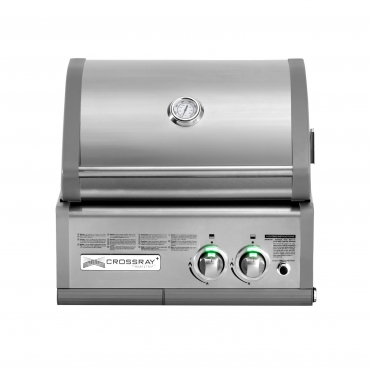 BARBECUE A INFRAROSSI A GAS CROSSRAY DA INCASSO 2 BURNER